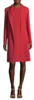 Lafayette 148 New York Carmelle Crepe Wool Long Jacket