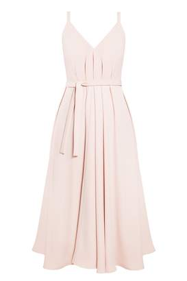 UNDRESS - Notabilia Pastel Pink Extremely Flared Occasion Wedding Guest Midi Dress