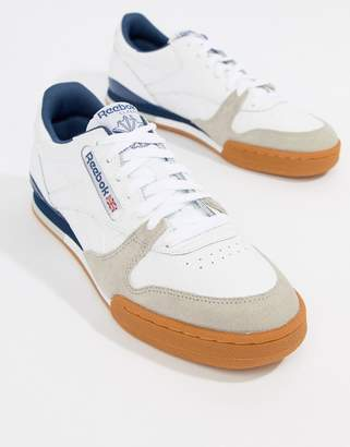 92ab39f66df Reebok White Gum Sole Shoes For Men - ShopStyle UK