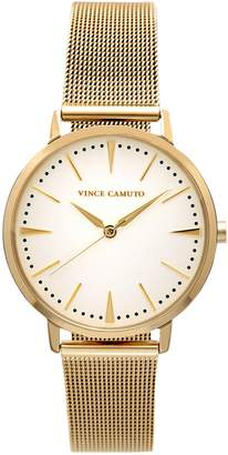 Vince Camuto Goldtone Mesh-bracelet Watch