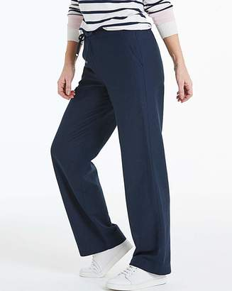 Fashion World Easy Care Linen Mix Trousers Long