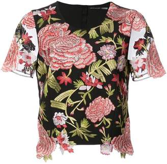 Josie Natori embroided style blouse