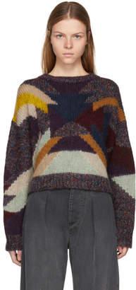 Isabel Marant Purple Intarsia Cadelia Sweater