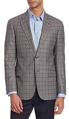 Emporio Armani Men's G Line Checked Wool Jacket