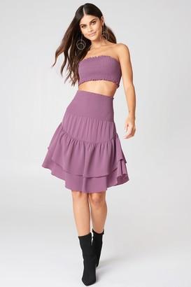 Na Kd Boho Shirred Part Flounce Skirt