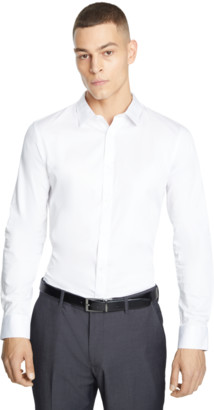 yd. WHITE MISSION SLIM FIT DRESS SHIRT
