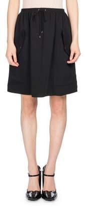 Kenzo Short Jog-Style Flare Skirt, Black