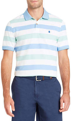 Izod Short-Sleeve Stripe Polo