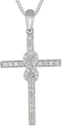 Silver Cross FINE JEWELRY 1/3 CT. T.W. Diamond Sterling Pendant Necklace