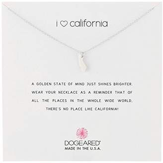 Dogeared Reminders- I Heart California Sterling California State Charm Necklace