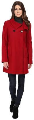 Larry Levine 3/4 D/B Wool Swing Coat Women's Coat