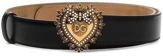 Dolce & Gabbana Devotion heart-buckle belt