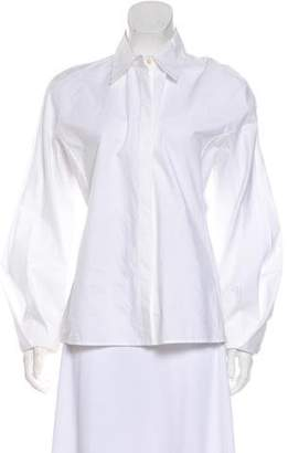 Nina Ricci Long Sleeve Button-Up Top