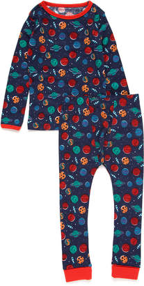 Rockin' Baby スペースプリント パジャマ 上下セット ネイビースペース 3-4y