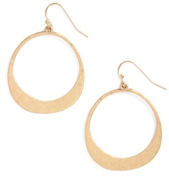 Women's Panacea Hammered Circle Earrings