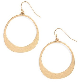 Women's Panacea Hammered Circle Earrings $18 thestylecure.com