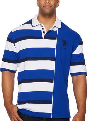 U.S. Polo Assn. USPA Embroidered Short Sleeve Stripe Knit Polo Shirt Big and Tall