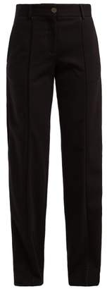 Loewe Piped Twill Trousers - Womens - Black
