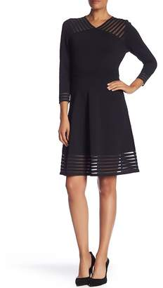 Calvin Klein Illusion 3\u002F4 Sleeve Dress