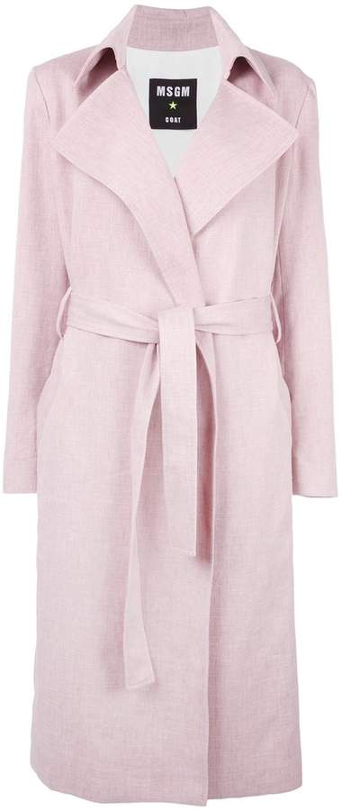 MSGM belted wrap coat