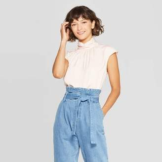 Who What Wear Women's Short Sleeve Turtleneck Blouse - Who What WearTM
