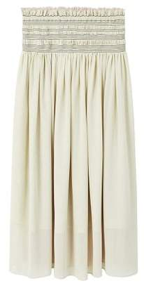 MANGO Gathered waist skirt