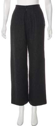 Albert Nipon High-Rise Wide-Leg Wool Pants