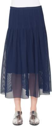 Akris Punto 3D Lace Midi Skirt