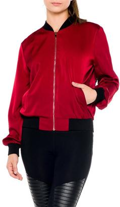 Bella Embroidered Bomber Jacket $94 thestylecure.com