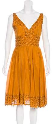 Tracy Reese Beaded Knee-Length Dress
