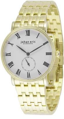 Johan Eric Men's JE-H1000-02-001B Holstebro Analog Display Quartz Silver Watch