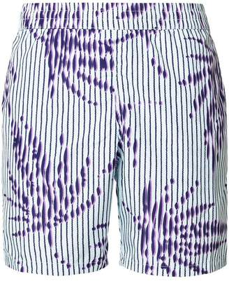 La Perla striped palm tree swim shorts