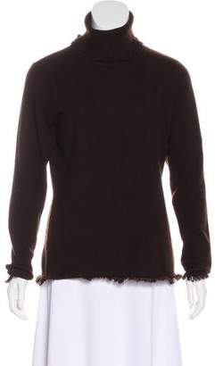 Magaschoni Fringed-Trim Cashmere Sweater