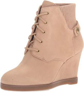 MICHAEL Michael Kors Carrigan Wedge Knit Cuff Lace Up Ankle Boots