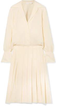 d832924ef2 Chloé Pleated Silk Crepe De Chine Midi Dress - Ivory