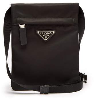 Prada Nylon Cross Body Bag - Mens - Black