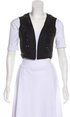 Temperley London Embellished Cropped Vest