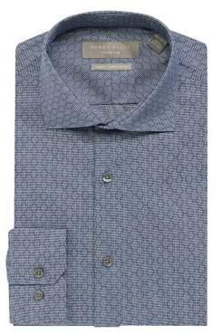 Perry Ellis Slim Fit Stretch Diamond Check Dress Shirt