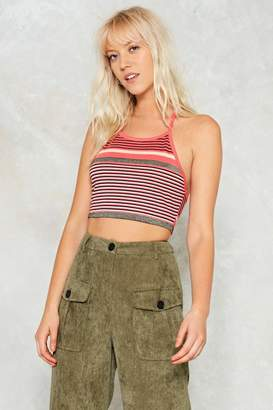 Nasty Gal Hook Line and Sinker Striped Top