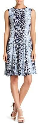 Gabby Skye Floral Print A-Line Dress