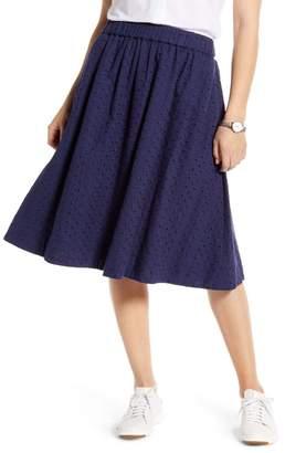 1901 Eyelet Midi Skirt (Regular & Petite)
