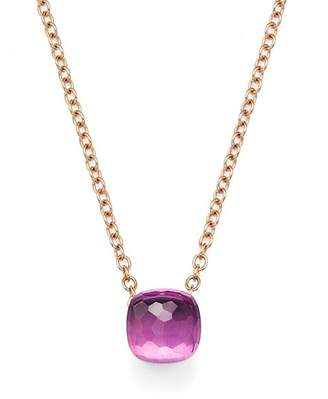 Pomellato Nudo Necklace with Amethyst in 18K Rose and White Gold