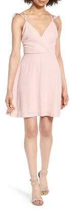 Dee Elly Strappy Surplice Mini Dress