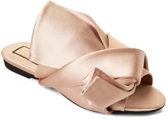 No.21 No. 21 Cipria Satin Bow Slide Sandals