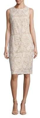 Eliza J Sleeveless Fitted Midi Dress