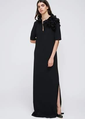 Lanvin Ruffle Shoulder Gown