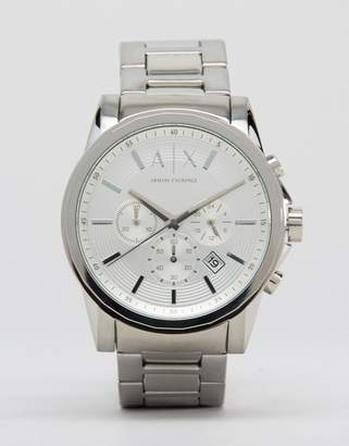 Armani Exchange AX2058 Stainless Steel Watch In Silver