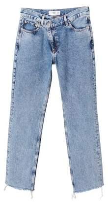 MANGO Wrap-waist straight-fit jeans