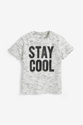 Next Boys Ecru Stay Cool T-Shirt (3-16yrs) - Natural