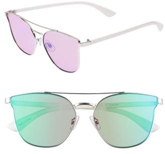 BP 56mm Flat Mirrored Aviator Sunglasses